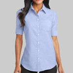 Ladies Short Sleeve SuperPro ™ Oxford Shirt