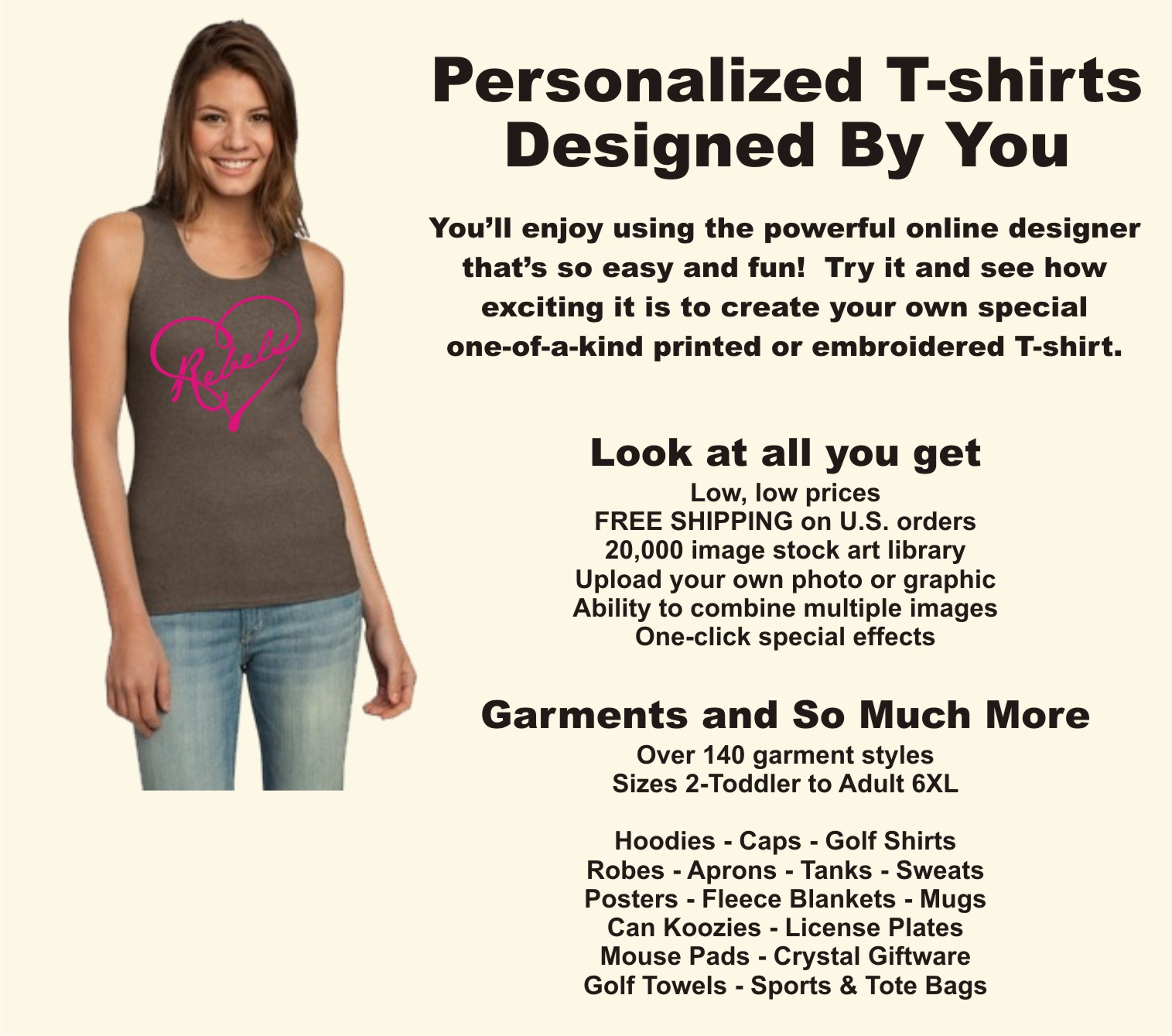 Design, personalize, create, and customize your own T-shirt or tee shirt.